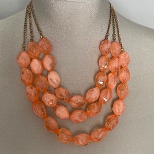 Peachy keen statement necklace